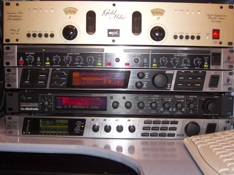 The REAL Old Voodoo Audio Rack of G0TIY!